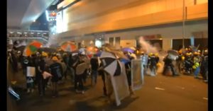 Armed Masked Men Assault Anti-Gov't Protesters in Hong Kong