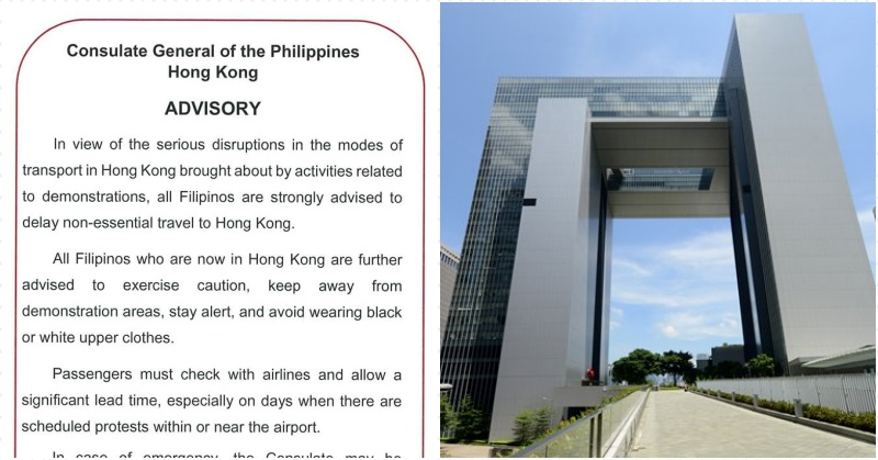 PCG in HK Urges Filipinos to Avoid Non-Essential Travels There for Now