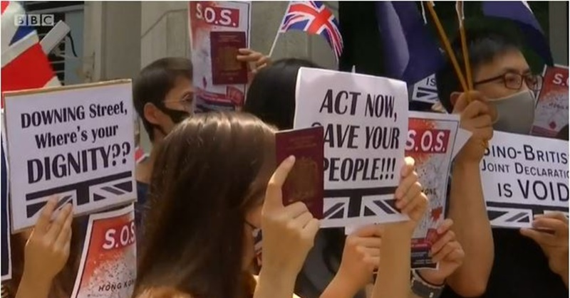 Hong Kong Protesters Rally for Support from British Government